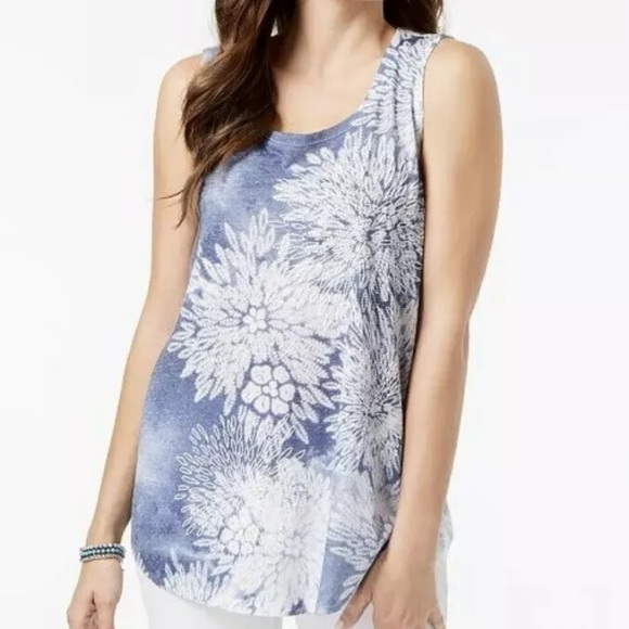 Style & Co Tops - ⭐️ Style & Co Embellished Tank Top Size Large